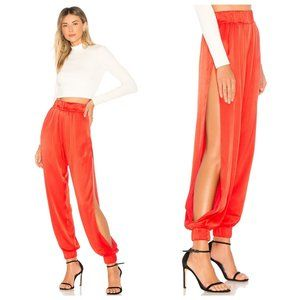 Lovers + Friends Tristan Red Satin Joggers